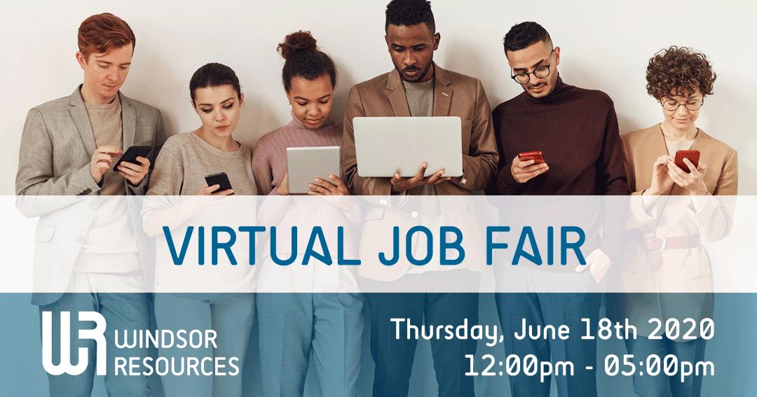 Virtual Job Fair, June 18th 2020